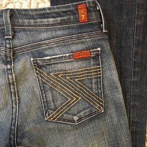 7 For All Mankind Jeans - 7 for All Mankind Jeans   Flynt Gold   25x31
